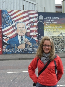 Me in front of the Belfast mural back in August